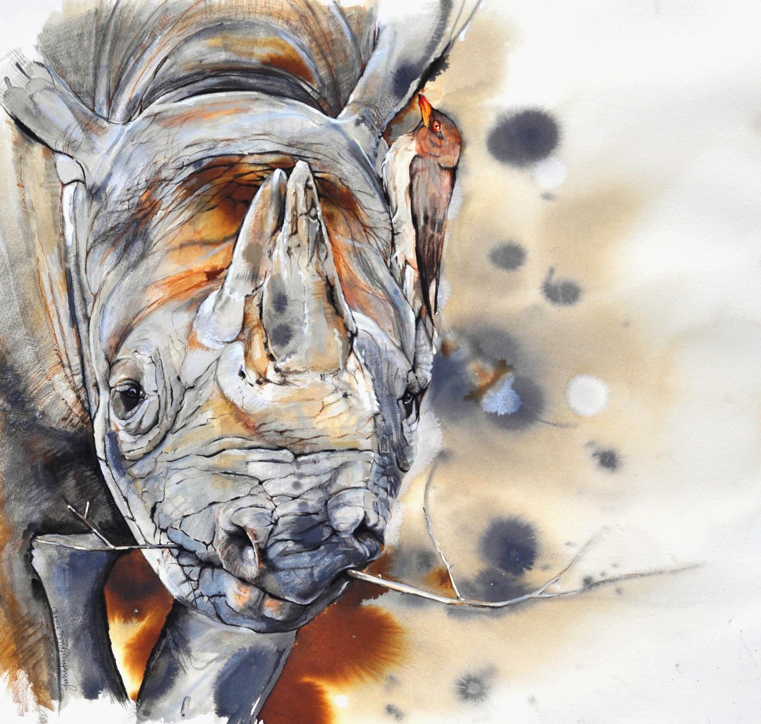Art: Helping Rhinos Artists