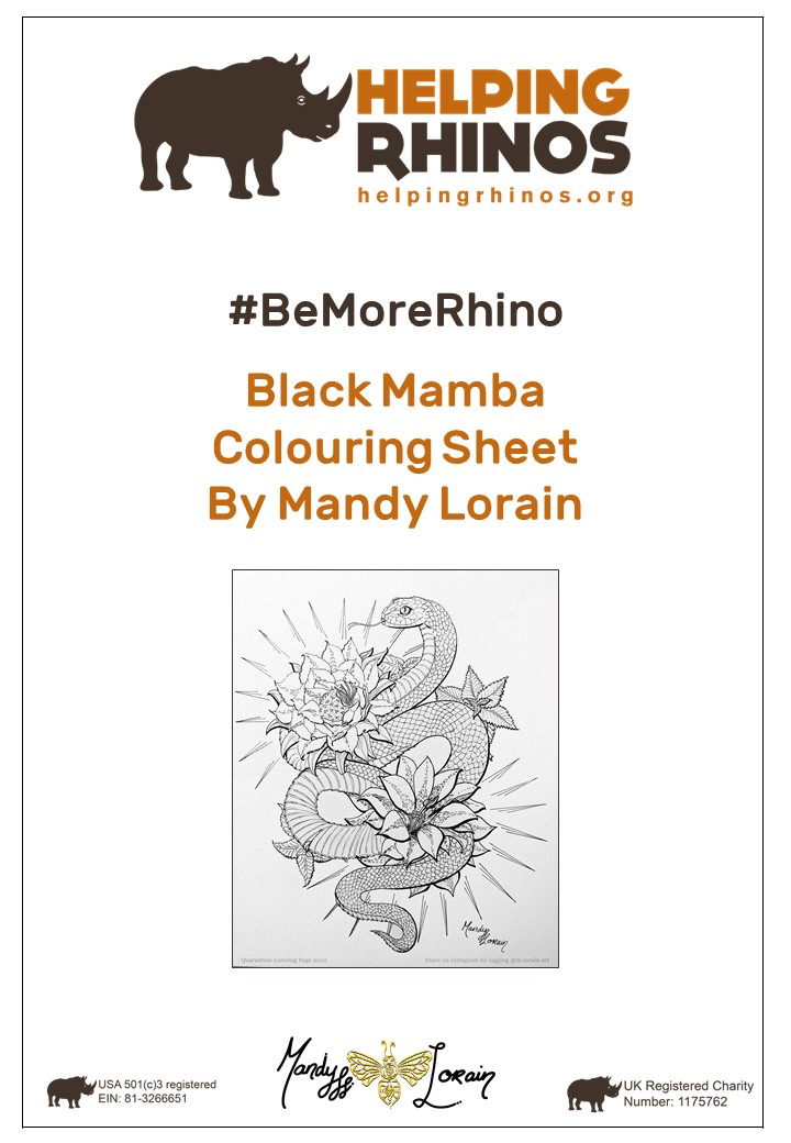 Black-Mamba-Colouring-Sheet