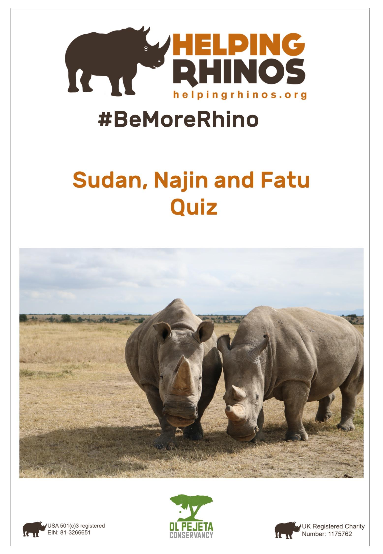 Northern White Rhino Quiz