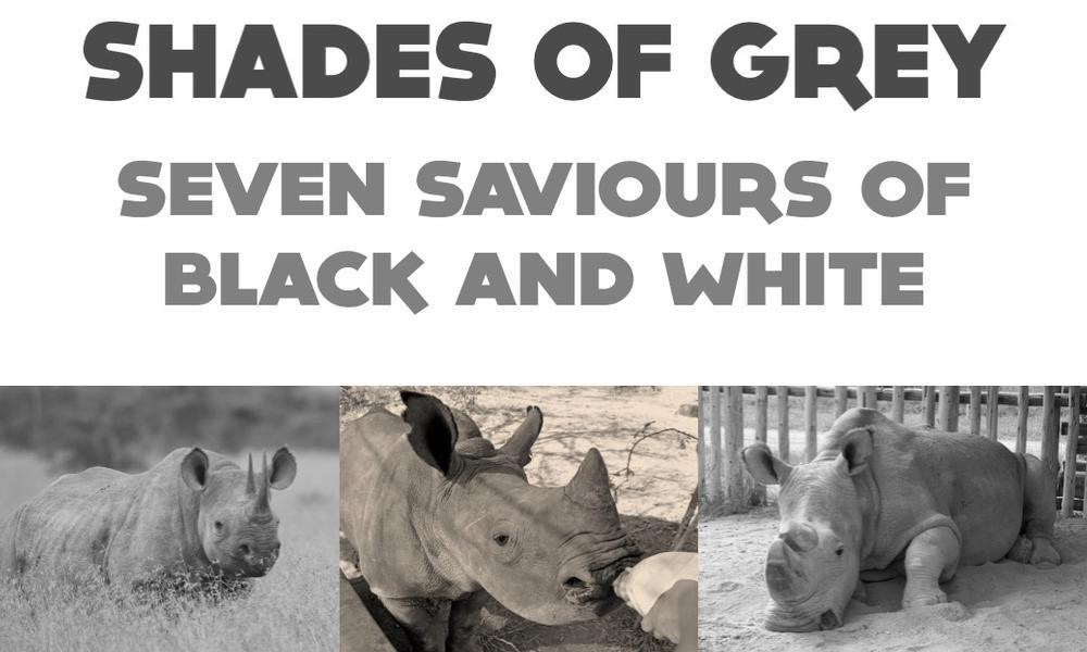 Shades of Grey - Seven Saviours of Black and White Rhino